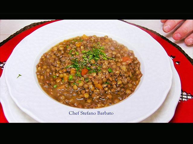 Ricetta Lenticchie.Lenticchie Ricetta Classica Chef Stefano Barbato